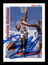 Dennis Rodman Autographed 1992-93 Hoops Card #302 Detroit Pistons SKU #190482