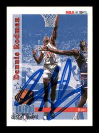 Dennis Rodman Autographed 1992-93 Hoops Card #302 Detroit Pistons SKU #190483