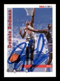 Dennis Rodman Autographed 1992-93 Hoops Card #302 Detroit Pistons SKU #190484