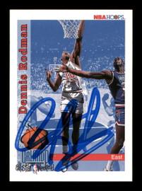 Dennis Rodman Autographed 1992-93 Hoops Card #302 Detroit Pistons SKU #190485