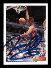 Dennis Rodman Autographed 1992-93 Upper Deck Card #242 Detroit Pistons SKU #190488
