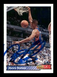Dennis Rodman Autographed 1992-93 Upper Deck Card #242 Detroit Pistons SKU #190489