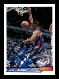 Dennis Rodman Autographed 1992-93 Upper Deck Card #242 Detroit Pistons SKU #190490