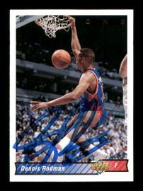 Dennis Rodman Autographed 1992-93 Upper Deck Card #242 Detroit Pistons SKU #190491