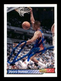 Dennis Rodman Autographed 1992-93 Upper Deck Card #242 Detroit Pistons SKU #190493
