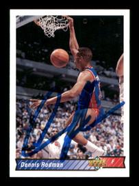 Dennis Rodman Autographed 1992-93 Upper Deck Card #242 Detroit Pistons SKU #190494
