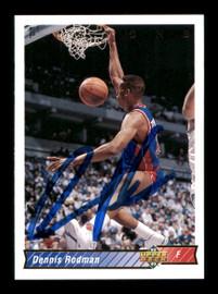 Dennis Rodman Autographed 1992-93 Upper Deck Card #242 Detroit Pistons SKU #190495
