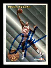 Dennis Rodman Autographed 1993-94 Fleer Card #227 Detroit Pistons SKU #190497