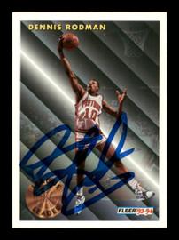 Dennis Rodman Autographed 1993-94 Fleer Card #227 Detroit Pistons SKU #190498
