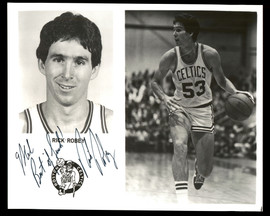 """Rick Robey Autographed Team Issued 8x10 Photo Boston Celtics """"To Mel Best Of Luck"""" SKU #190639"""
