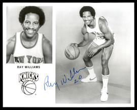 Ray Williams Autographed Team Issued 8x10 Photo New York Knicks SKU #190674