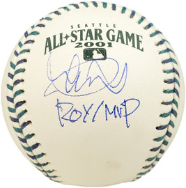 """Ichiro Suzuki Autographed Official 2001 All Star Game  Baseball Seattle Mariners """"ROY/MVP"""" IS Holo Stock #190509"""