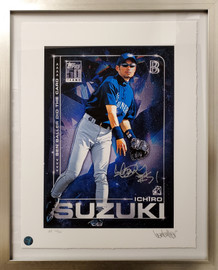 "Ichiro Suzuki Autographed Framed Topps Project 2020 Fine Art Print Seattle Mariners ""51"" With Ben Baller AP #/20 IS Holo Stock #190513"