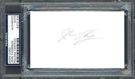 John Thompson Autographed 3x5 Index Card Georgetown University Coach PSA/DNA #83721234