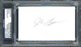 John Thompson Autographed 3x5 Index Card Georgetown University Coach PSA/DNA #83721235