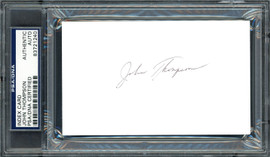 John Thompson Autographed 3x5 Index Card Georgetown University Coach PSA/DNA #83721240