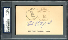 Bob Porterfield Autographed 3x5 Index Card New York Yankees, Boston Red Sox PSA/DNA #83862269