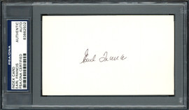 Earl Francis Autographed 3x5 Index Card Pittsburgh Pirates, St. Louis Cardinals PSA/DNA #83862502
