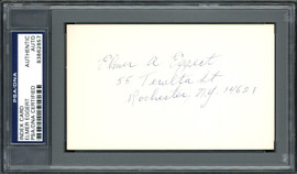 Elmer A. Eggert Autographed 3x5 Index Card Boston Red Sox PSA/DNA #83862857