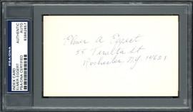 Elmer A. Eggert Autographed 3x5 Index Card Boston Red Sox PSA/DNA #83862857