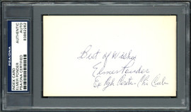 "Elmer Ponder Autographed 3x5 Index Card Pittsburgh Pirates, Chicago Cubs ""Best of Wishes"" PSA/DNA #83862262"