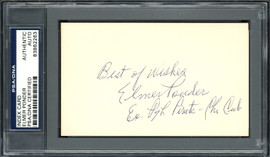 "Elmer Ponder Autographed 3x5 Index Card Pittsburgh Pirates, Chicago Cubs ""Best of Wishes"" PSA/DNA #83862263"