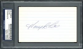 Harry Chiti Autographed 3x5 Index Card New York Mets, Chicago Cubs PSA/DNA #83862184