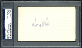 Harry Chiti Autographed 3x5 Index Card New York Mets, Chicago Cubs PSA/DNA #83862185