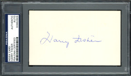 Harry Fisher Autographed 3x5 Index Card Pittsburgh Pirates PSA/DNA #83862905