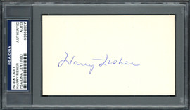 Harry Fisher Autographed 3x5 Index Card Pittsburgh Pirates PSA/DNA #83862907