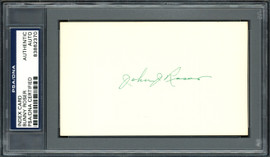 "John ""Bunny"" Roser Autographed 3x5 Index Card Boston Braves PSA/DNA #83862370"