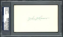 "John ""Bunny"" Roser Autographed 3x5 Index Card Boston Braves PSA/DNA #83862370"