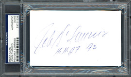 "John D'Amico Autographed 3x5 Index Card ""H.H.O.F. 93"" PSA/DNA #83721338"