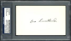 "Lester ""Les"" Sweetland Autographed 3x5 Index Card Philadelphia Phillies, Chicago Cubs PSA/DNA #83862432"