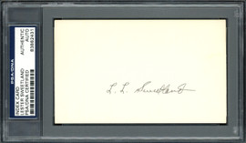 "Lester ""Les"" Sweetland Autographed 3x5 Index Card Philadelphia Phillies, Chicago Cubs PSA/DNA #83862431"