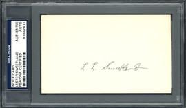 "Lester ""Les"" Sweetland Autographed 3x5 Index Card Philadelphia Phillies, Chicago Cubs PSA/DNA #83862431"