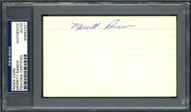 Merritt Ranew Autographed 3x5 Index Card Chicago Cubs, Seattle Pilots PSA/DNA #83862321