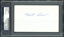 Merritt Ranew Autographed 3x5 Index Card Chicago Cubs, Seattle Pilots PSA/DNA #83862323
