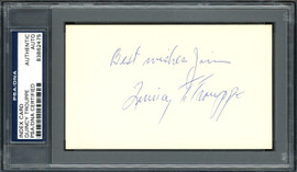 "Quincy Trouppe Autographed 3x5 Index Card Negro Leagues, Cleveland Indians ""Best Regards Jim"" PSA/DNA #83862475"