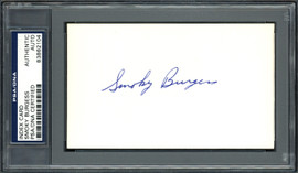 Smoky Burgess Autographed 3x5 Index Card Philadelphia Phillies, Cincinnati Reds PSA/DNA #83862104