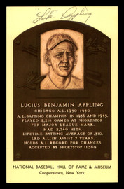 Luke Appling Autographed HOF Plaque Postcard Chicago White Sox SKU #190988