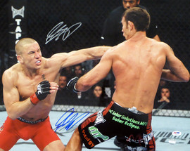 Georges St-Pierre GSP Autographed 16x20 Photo MMA Signed Twice PSA/DNA #U91063
