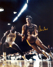 Jerry West Autographed 16x20 Photo Los Angeles Lakers (Smear) Beckett BAS #T13601