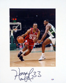 Hersey Hawkins Autographed 16x20 Matted Photo Philadelphia 76ers PSA/DNA #AB51616