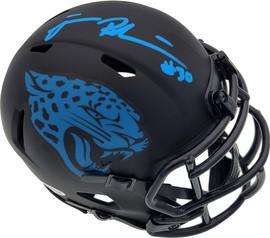 James Robinson Autographed Jacksonville Jaguars Eclipse Black Speed Mini Helmet Beckett BAS Stock #191011
