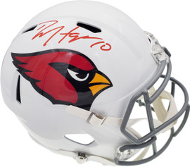 DeAndre Hopkins Autographed Arizona Cardinals White Full Size Replica Speed Helmet Beckett BAS Stock #191104