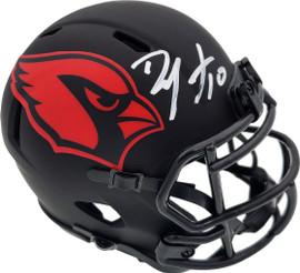 DeAndre Hopkins Autographed Arizona Cardinals Eclipse Black Speed Mini Helmet Beckett BAS Stock #191110