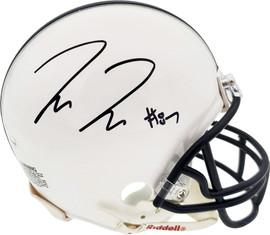Pat Freiermuth Autographed Penn State Nittany Lions White Mini Helmet Beckett BAS Stock #191113