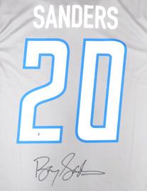 Detroit Lions Barry Sanders Autographed Gray Nike Jersey Size L Beckett BAS Stock #191118