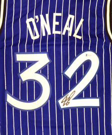 Orlando Magic Shaquille O'Neal Autographed Blue Jersey Signed on #2 Beckett BAS Stock #191129